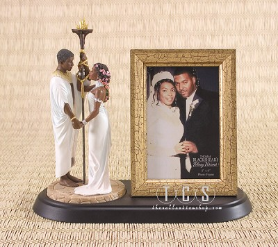 The Commitment Cake Topper 3pc Gift Set by Ebony Visions Image is watermarked for copyright protection and is not present on the actual art work.