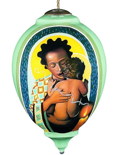 Madonna And Child by Thomas Blackshear Neqwa Image is watermarked for copyright protection and is not present on the actual art work.