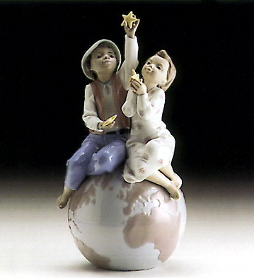 A World Of Love by Lladro Black Legacy Image is watermarked for copyright protection and is not present on the actual art work.