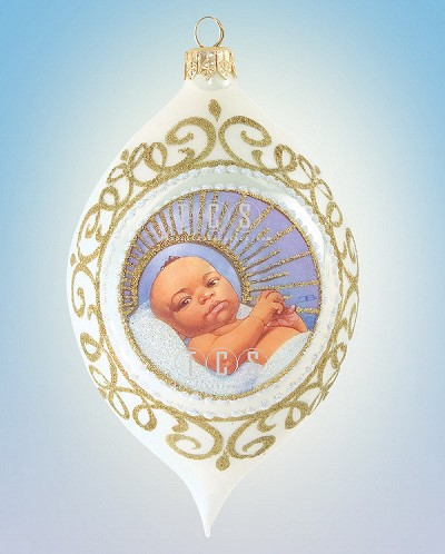 Baby Jesus 2008 Basic Blackshear Cirlce Membership by Ebony Visions Image is watermarked for copyright protection and is not present on the actual art work.