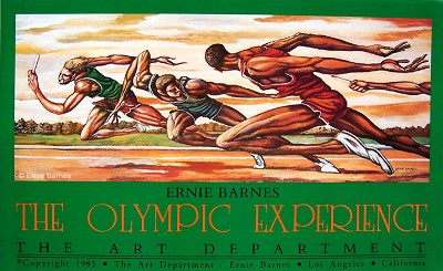 The Olympic Experience-Signed by Ernie Barnes Image is watermarked for copyright protection and is not present on the actual art work.