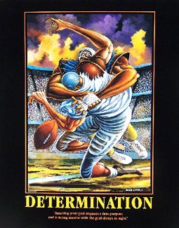 Determination-Unsigned by Ernie Barnes Image is watermarked for copyright protection and is not present on the actual art work.