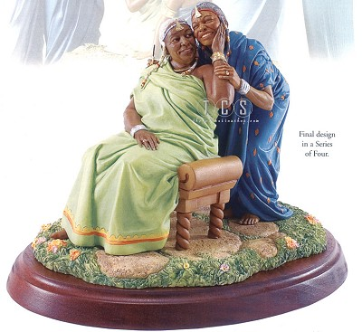 Sisters Forever In Elder Years by Ebony Visions Image is watermarked for copyright protection and is not present on the actual art work.