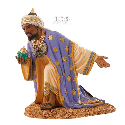 The Wise Man With Frankincense 2010 Blackshear Circle Membership by Ebony Visions Image is watermarked for copyright protection and is not present on the actual art work.
