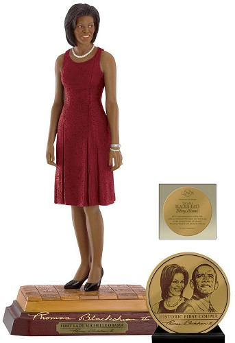 First Lady Michelle Obama Hand Signed by Ebony Visions Image is watermarked for copyright protection and is not present on the actual art work.