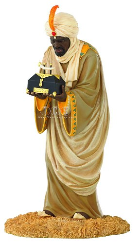 The Wise Man With Gold by Ebony Visions Image is watermarked for copyright protection and is not present on the actual art work.