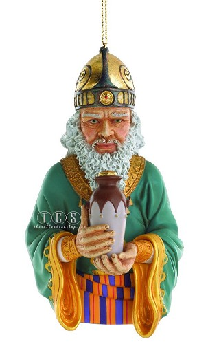 The Wise Man With Myrrh 2011 Ornament by Ebony Visions Image is watermarked for copyright protection and is not present on the actual art work.