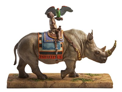 Rhino Rider by Ebony Visions Image is watermarked for copyright protection and is not present on the actual art work.