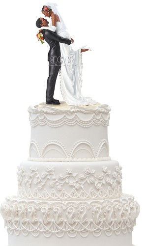 Forever One Cake Topper by Ebony Visions Image is watermarked for copyright protection and is not present on the actual art work.