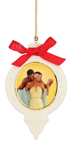 The Tender Touch Ornament Porcelain by Ebony Visions Image is watermarked for copyright protection and is not present on the actual art work.
