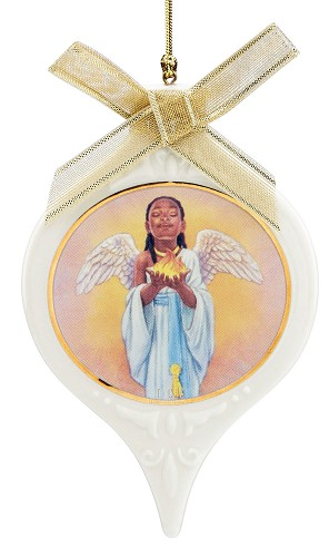 The Hope Angel Ornament by Ebony Visions Image is watermarked for copyright protection and is not present on the actual art work.