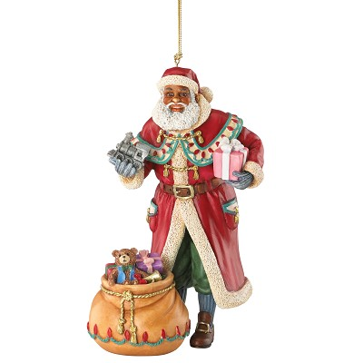Father Christmas Ornament 2015 by Ebony Visions Image is watermarked for copyright protection and is not present on the actual art work.