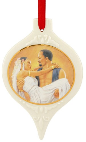 Love for a Lifetime Ornament by Ebony Visions Image is watermarked for copyright protection and is not present on the actual art work.
