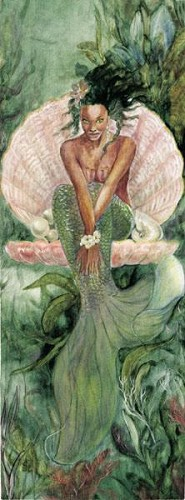 Goddess Of The Sea by Gamboa Image is watermarked for copyright protection and is not present on the actual art work.