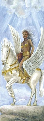 Goddess Of The Wind by Gamboa Image is watermarked for copyright protection and is not present on the actual art work.