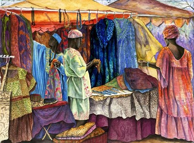 Marketplace by Gamboa Image is watermarked for copyright protection and is not present on the actual art work.