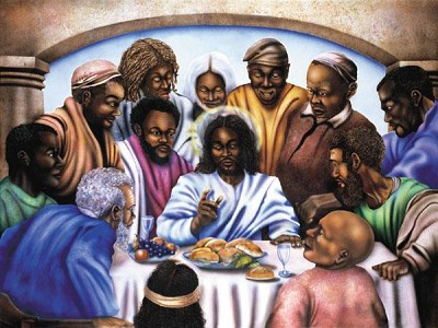Last Supper Giclee by Terry Wilson Image is watermarked for copyright protection and is not present on the actual art work.