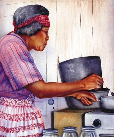 Granny Giclee by Terry Wilson Image is watermarked for copyright protection and is not present on the actual art work.