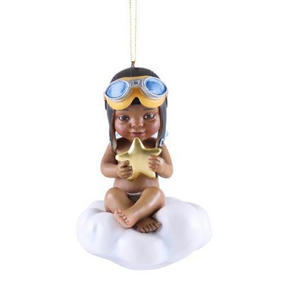CATCHING A BLESSING BOY ORNAMENT FOR 2017 by Thomas Blackshear Image is watermarked for copyright protection and is not present on the actual art work.