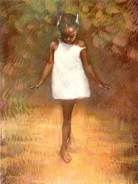 Barefoot Dreams by Brenda Joysmith Image is watermarked for copyright protection and is not present on the actual art work.