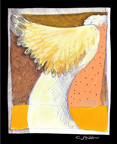 Angel Wings Giclee by Charles Bibbs Image is watermarked for copyright protection and is not present on the actual art work.
