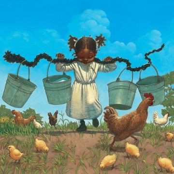 Buckets And Chickens by Kadir Nelson Image is watermarked for copyright protection and is not present on the actual art work.