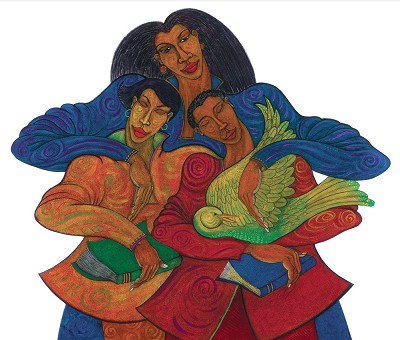 The Caregivers III by Charles Bibbs Image is watermarked for copyright protection and is not present on the actual art work.