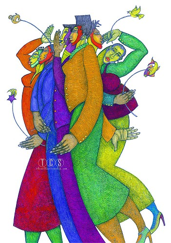 Diversity Giclee Special Edition by Charles Bibbs Image is watermarked for copyright protection and is not present on the actual art work.