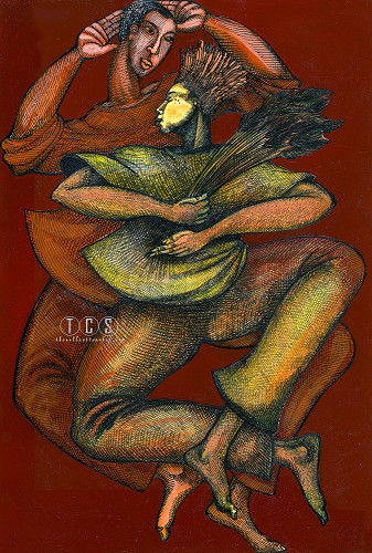 Dance To The Harvest by Charles Bibbs Image is watermarked for copyright protection and is not present on the actual art work.