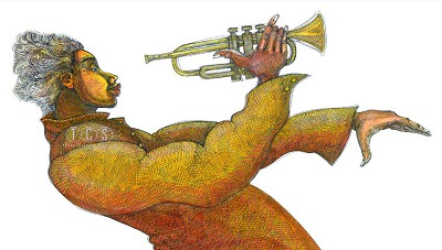 Jazz Composition Giclee by Charles Bibbs Image is watermarked for copyright protection and is not present on the actual art work.