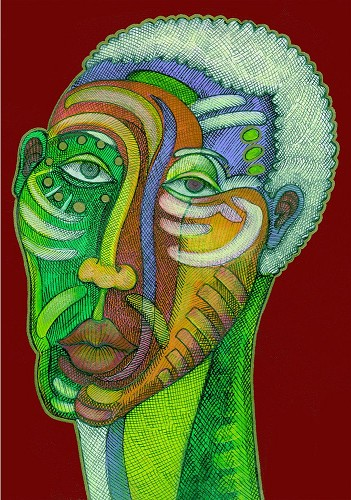 Man In Love by Charles Bibbs Image is watermarked for copyright protection and is not present on the actual art work.