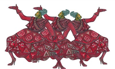 Rhythms In Red by Charles Bibbs Image is watermarked for copyright protection and is not present on the actual art work.