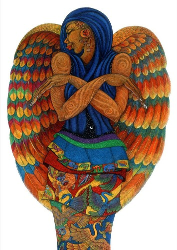 The Earth Angel 2 by Charles Bibbs Image is watermarked for copyright protection and is not present on the actual art work.