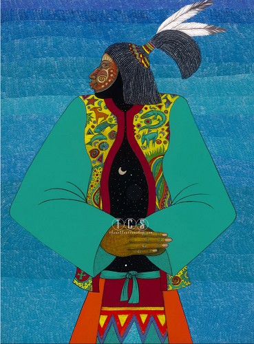 Medicine Man Giclee by Charles Bibbs Image is watermarked for copyright protection and is not present on the actual art work.