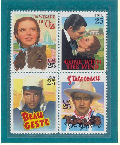 1990 - Classic Films - Us Mint Stamps by Thomas Blackshear Image is watermarked for copyright protection and is not present on the actual art work.
