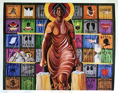 A Walk In Faith by Ernie Barnes Image is watermarked for copyright protection and is not present on the actual art work.