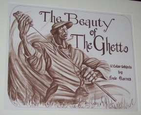 The Beauty Of The Ghetto  Portfolio Cover by Ernie Barnes Image is watermarked for copyright protection and is not present on the actual art work.