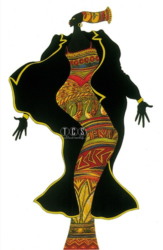 Ebony Series 2 by Charles Bibbs Image is watermarked for copyright protection and is not present on the actual art work.