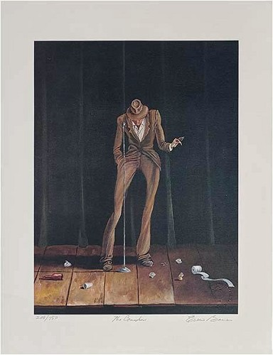 The Comedian Signed And Numbered Limited Edition by Ernie Barnes Image is watermarked for copyright protection and is not present on the actual art work.