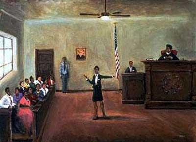 Equal Justice by Ted Ellis Image is watermarked for copyright protection and is not present on the actual art work.