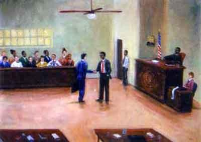 Final Justice by Ted Ellis Image is watermarked for copyright protection and is not present on the actual art work.