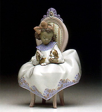 Just A Little More by Lladro Black Legacy Image is watermarked for copyright protection and is not present on the actual art work.