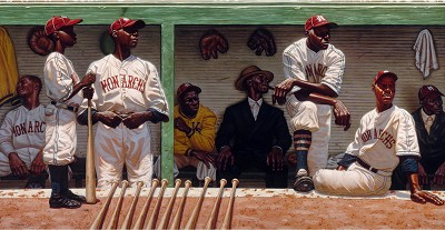 Kansas City Dugout Paper Artist Proof by Kadir Nelson Image is watermarked for copyright protection and is not present on the actual art work.