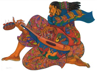 The Music Maker 2 Limited Edition by Charles Bibbs Image is watermarked for copyright protection and is not present on the actual art work.