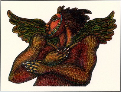 Man Angel #2 Giclee by Charles Bibbs Image is watermarked for copyright protection and is not present on the actual art work.