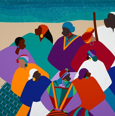 Ring Shout Gullah Islands by Synthia SAINT JAMES Image is watermarked for copyright protection and is not present on the actual art work.