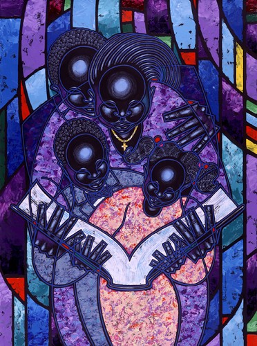 Spiritual Realm   Giclee  Re 12 by Larry Poncho Brown Image is watermarked for copyright protection and is not present on the actual art work.