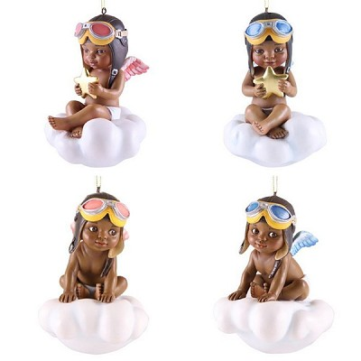 Little Pilots 2017 Ornament Set by Thomas Blackshear Image is watermarked for copyright protection and is not present on the actual art work.