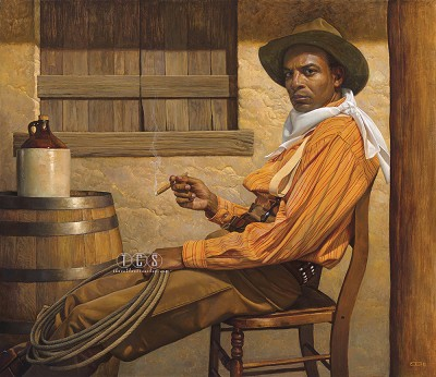 Texas Chillin Lithograph by Thomas Blackshear Image is watermarked for copyright protection and is not present on the actual art work.