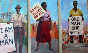 Civil Rights Series I by Ted Ellis Image is watermarked for copyright protection and is not present on the actual art work.